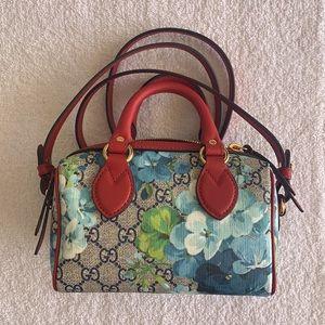 Gucci GG Supreme Monogram Blooms Mini Boston Bag